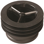 "MIFAB MI GARD 3 Series inline floor drain trapseal with UV resistant ABS plastic frame, silicon rubber sealing flapper and fourflexible sealing ribs. Specify connection size (2"", 3"", 3 1/2"", or 4"")."
